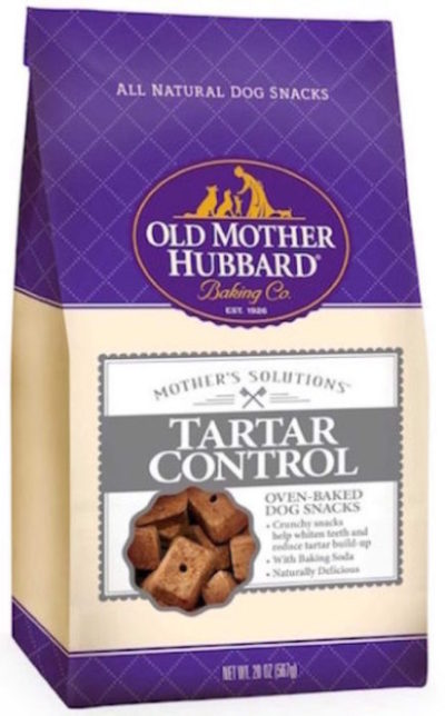 natural dental dog snack by old mother hubbard