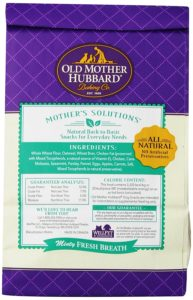 Dog Bad Breath Solution by Old mother Hubbard Minty Dog Biscuits