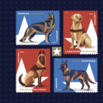 military dog stamps